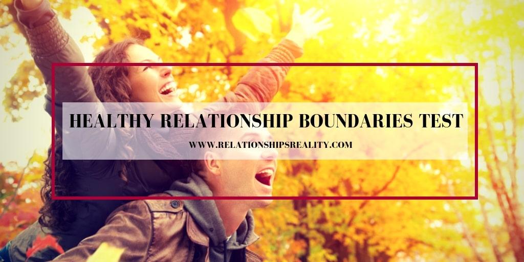 Healthy Relationship Boundaries Test